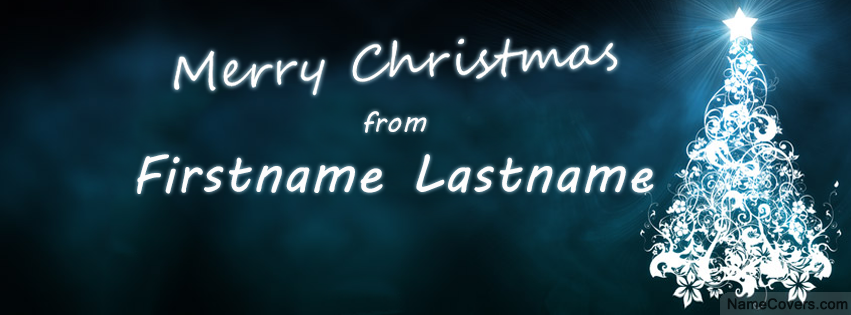 Christmas Greetings Name Cover - Facebook Timeline Cover