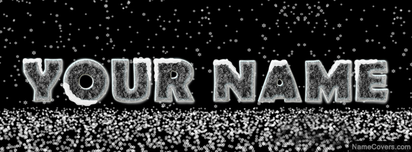 Ice Text Name Cover Facebook Timeline Cover