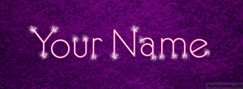75d51cec84aa Sparkle Text Name Cover - Facebook Timeline Cover